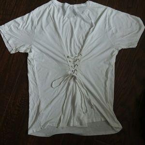Maternity back tie tee shirt